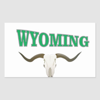 Wyoming skull sticker