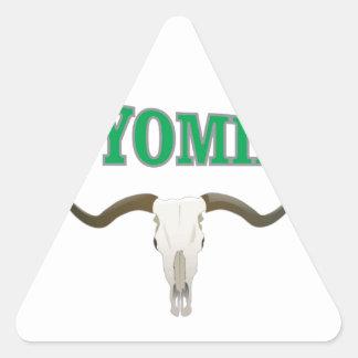 Wyoming skull triangle sticker