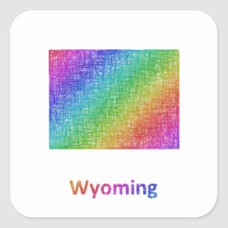 Wyoming Square Sticker