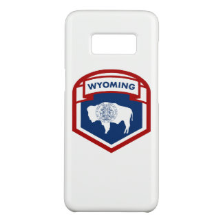 Wyoming State Flag Crest Shield Style Case-Mate Samsung Galaxy S8 Case