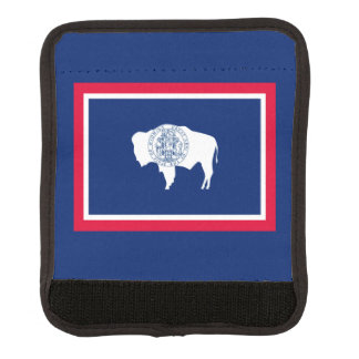 Wyoming State Flag Design Luggage Handle Wrap