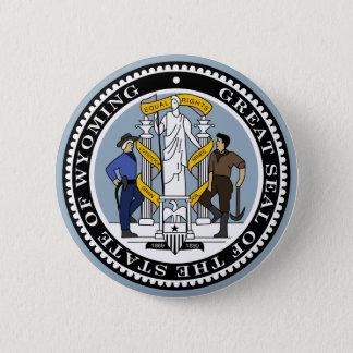 Wyoming State Seal 2 Inch Round Button