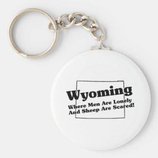Wyoming State Slogan Keychain