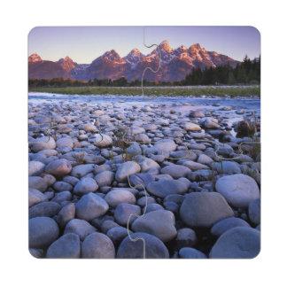 Wyoming, Teton National Park, Snake River Drink Coaster Puzzle
