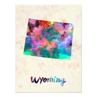 Wyoming U.S. state in watercolor Art Photo