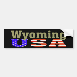 Wyoming USA! Bumper Sticker