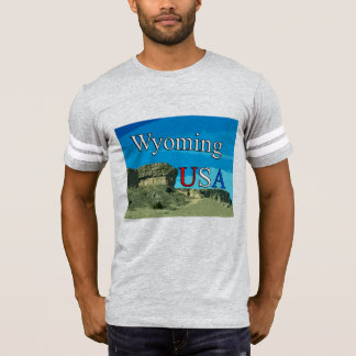 Wyoming USA Men's Football T-Shirt