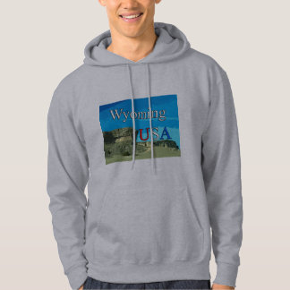 Wyoming USA Men's Hooded Sweat Shirt