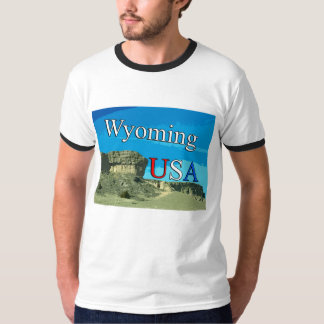 Wyoming USA Men's Ringer T-Shirt
