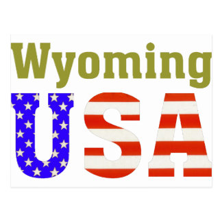 Wyoming USA! Postcard