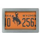 Wyoming Vintage License Plate 1944 Buckle Rectangular Belt Buckle