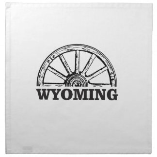 wyoming wheel napkin