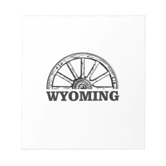 wyoming wheel notepad