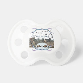 WYOMING wildlife Baby Pacifiers