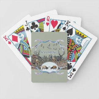 WYOMING wildlife Bicycle Playing Cards