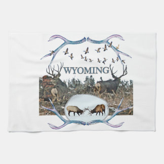 WYOMING wildlife Hand Towels