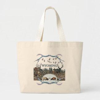 WYOMING wildlife Large Tote Bag
