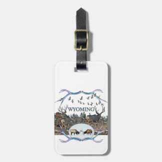 WYOMING wildlife Luggage Tag