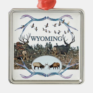 WYOMING wildlife Metal Ornament