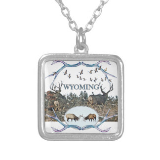 WYOMING wildlife Silver Plated Necklace