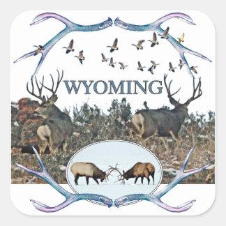 WYOMING wildlife Square Sticker