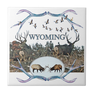 WYOMING wildlife Tile