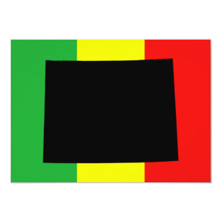 Wyoming with Rasta Colors Card