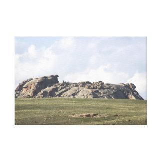 Wyoming's Turtle Rock Canvas Print
