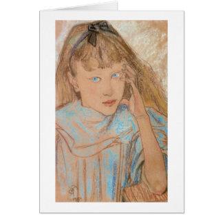 Wyspianski, Girl With Blue Eyes, 1895 Card
