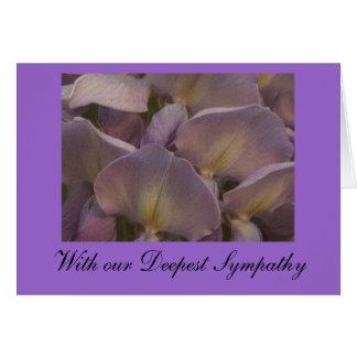 Wysteria Sympathy Card