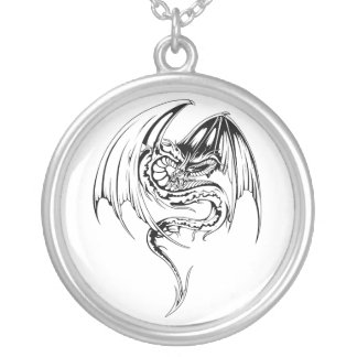 Wyvern Dragon Are Fantasy Mythical Creatures Silver Plated Necklace