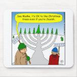 x04 Jews like Christmas too - cartoon Mouse Pad