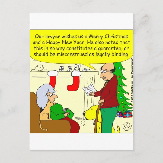 X08 Christmas Card From Our Lawyer Cartoon Zazzle Ca