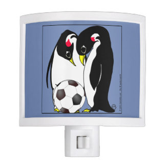 x2017 Penguin mom and dad with soccer ball egg Nite Light