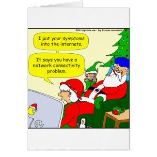 x36 santas symptoms cartoon card