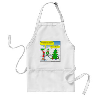 x56 cell tower christmas tree cartoon standard apron