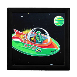 X-15 FLYING SAUCER GIFT BOX