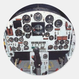 X-15 - MACH 1 COCKPIT ROUND STICKER
