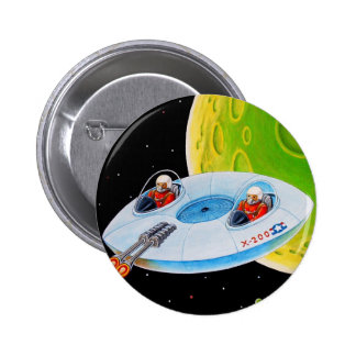 X-200 FLYING SAUCER 2 INCH ROUND BUTTON