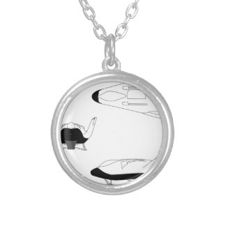 X-38_3-View_line_art_EG-0097-01 Silver Plated Necklace