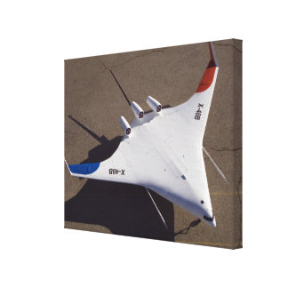 X-48B Blended Wing Body unmanned aerial vehicle 4 Stretched Canvas Print