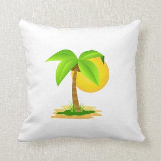 x almofada 40,6 40,6 cm - Designer Coconut palm Throw Pillow
