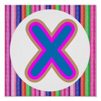 X ALPHAX Festive Holiday Celebration ALPHABET Poster