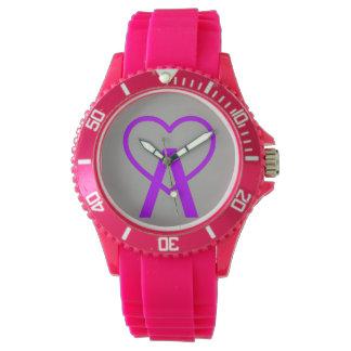 X&D Pink A~Heart Watch