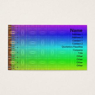 X Flames Grid Border Business Card