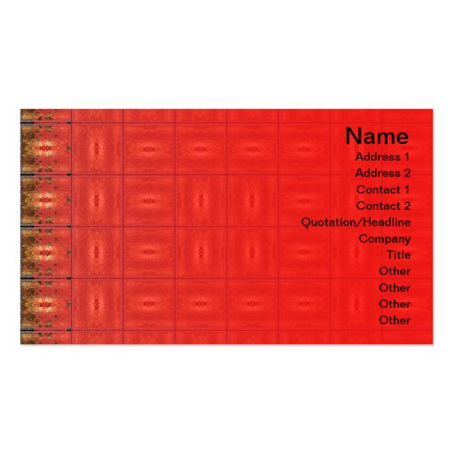 X Flames Grid Border Business Card Template