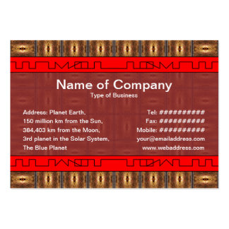 X Flames Grid Border Pack Of Chubby Business Cards