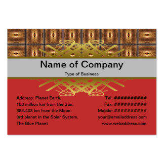 X Flames Grid Border Large Business Card