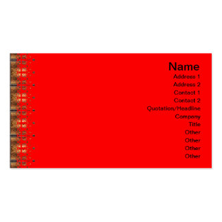 X Flames Grid Border Pack Of Standard Business Cards