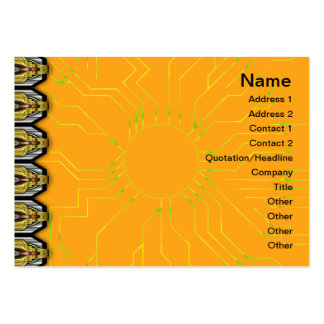 X Flames Grid Large Business Card